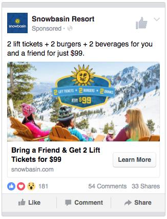 Snowbasin resort 2 + 2 +2 ad