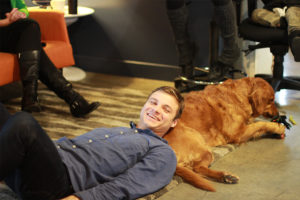 Scott & Ellie - Fish Office Dogs