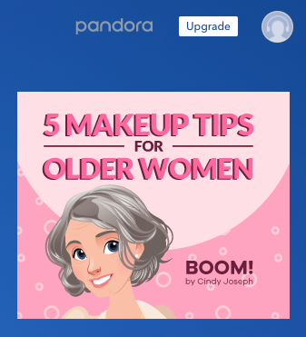 "Image of ad with ""5 Makeup Tips for Older Women"" Headline"