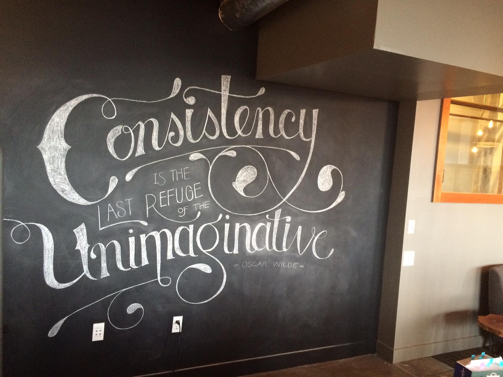 Chalkboard Art Wall at Fish