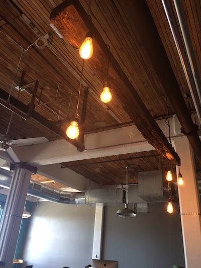 Office Remodel lighting at Fish Marketing